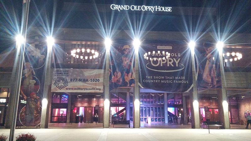 moth Global Partners, Inc. promotes client, Military Benefit Association at the Grand Ole Opry, Nashville, TN