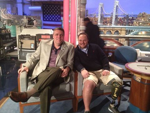 BJ AND CARL ON DAVID LETTERMAN SET